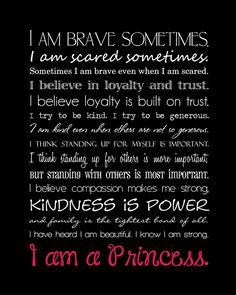 Disney quote I Am A Princess campaign.