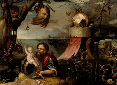 Saint Christopher and the Christ Child by Jan Mandyn (Flanders)  Holland, circa 1550 LACMA Collections