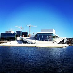 """See 2842 photos and 194 tips from 13982 visitors to Operahuset. """"Epic architecture with a great mix of glass and wood design. Oslo Opera House, Wood Design, Four Square, Norway, Places Ive Been, Architecture, City, Building, Travel"""