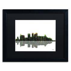 Birmingham Alabama Skyline by Marlene Watson Framed Graphic Art