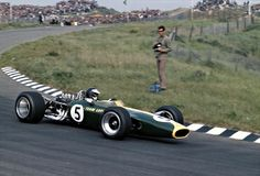 Clark at Zandvoort, June 1967 – it was the first of 155 wins of the Ford-Cosworth DFV engine