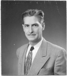 """Grandfather. Picture taken circa 1940. Grandpa passed when I was only 5 yrs old so I did not get to know this amazing man. Early memories of him - VERY tall with a strong """"presence"""". Used to carve the turkey at Thanksgiving & watched football. Graduated from Cooper Union College, & besides working on the Manhatten Project, he designed and consulted on many nuclear plants & fossil fuel stations across the U.S."""
