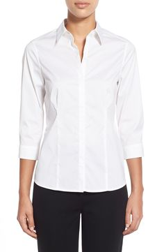 Ming Wang Stretch Poplin Shirt available at #Nordstrom