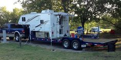 Rick Spigelmyer tells us how he decided to load a 2012 Travel Lite truck camper onto a gooseneck trailer to go rock crawling. Kombi Motorhome, Camper Trailers, Travel Trailers, Cabover Camper, Horse Trailers, Custom Trailers, Custom Trucks, Small Motorhomes, Light Trailer