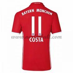 Billige Fotballdrakter Bayern Munich 2016-17 Costa 11 Hjemme Draktsett Kortermet
