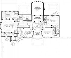 Strathmore Hall - House Plan - European/French - Second Floor Plan