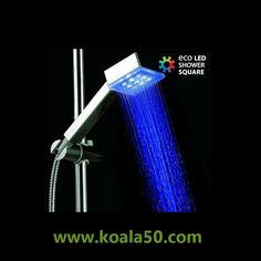 Ducha con Luz Cuadrada Eco Led Shower - 9,86 €   Comprar Ducha con Luz Cuadrada Eco Led Shower Square Shape al mejor precio.Una ducha con luz LEDque cambia de color en función de la temperatura del agua. Aporta alegría y color, además de ser...  http://www.koala50.com/ideas-para-el-hogar/ducha-con-luz-cuadrada-eco-led-shower