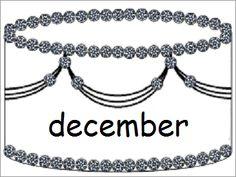 Verjaardagskalender (taart): december