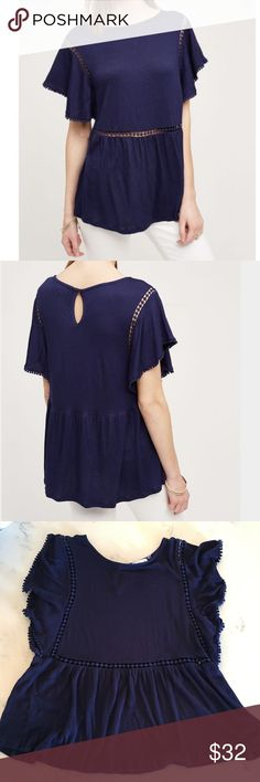 NWOT On the Road Navy Paolina Tee NWOT On the Road Navy Paolina Tee. Size S.  Another great find for Spring!  Light and airy shirt that would look so good with some white jeans!   Make me an offer  Anthropologie Tops Blouses