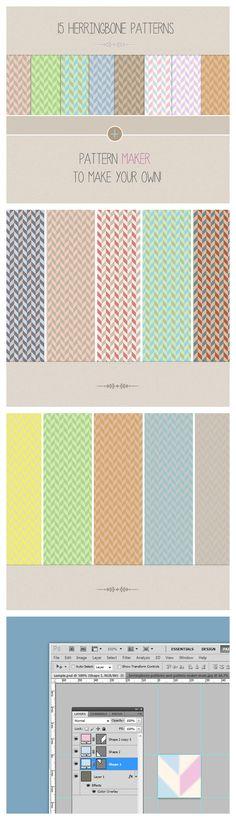 15 Herringbone patterns & pattern maker $8.00 #buypatterns #Herringbonepatterns #premiumpatterns #download #patterns #patternset #patterndesign