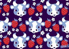 Cow (blue) by Leena Renko for Iloinen Kettuliini