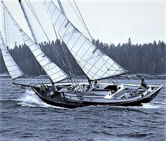 Sailing a double masted Sailboat single handed.