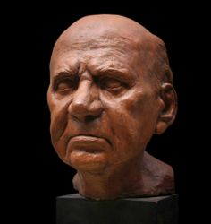 Terracotta Portrait by Renato Blaschi