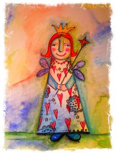 My fairy art mother! On watercolorpaper!