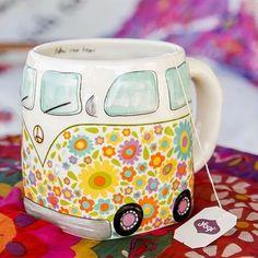 Van Folk Art Mug - This folk art mug will have you smiling every… - coffin #nails #nailscoffin #coffinnails