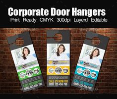 Go Fresh Restaurant Door Hanger  Hanger Door Hanger Template And