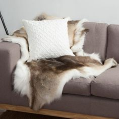 NEW-NSW-Leather-Co-Reindeer-Animal-Hide-Rug