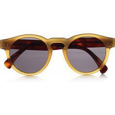 c5b113337bead Illesteva Leonard round-frame acetate sunglasses (680 BRL) ❤ liked on  Polyvore featuring