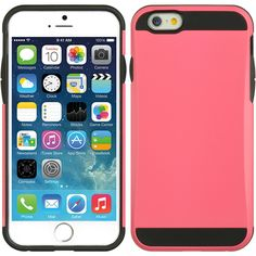 DW Dual Armor Hybrid Case for iPhone 6 - Hot Pink/Black #iphone6 #case #iphone6case