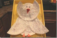 Arctic craft ideas - snowy owl