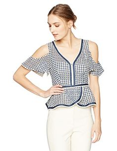 Quick & Easy Food Recipes at Hifow.com   Share this article on your favorite social media and get it for free!  Super cute embroidered top with flounce/cut out shoulder dresses up any denimBack zipperCut out shoulder  Things you need to buy Haydai.com  The post Nanette Lepore Women's...