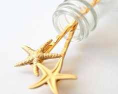 Estrella de mar Gold plated pelo Pin Set