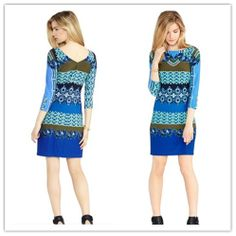 Perfect Printed Smart Stretch Fashion Lady Jersey Dress Daily Casual Clothing