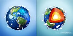 Planet Earth  #education #earth #planet #lava #core #cartoon
