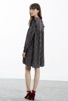 Robe Loulou noire à fleurs - Robes - Collection éphémère - Eshop