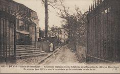 rue Girardon - Paris 18ème - L'entrée du Château des Brouillards au n° 13 de la rue Girardon, vers 1900.