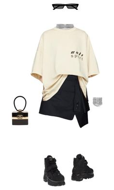"""Make it fashion"" by styledbyluna ❤ liked on Polyvore featuring Yeezy by Kanye West, Balenciaga, Yves Saint Laurent, Chanel and Buffalo #balenciaga"