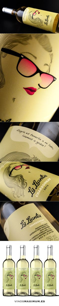Siete Pasos - Chardonnay. D.O. Navarra. Spain PD more awesome #illustrated #wine #packaging PD