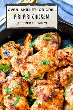 Piri Piri Chicken or also known as Peri Peri Chicken is now a quick weeknight dinner with this freezer friendly recipe! Prep is as simple as blend the sauce and add chicken! Use whichever cut of…More Freezer Chicken, Oven Chicken, Canned Chicken, Grilled Chicken Recipes, Grilled Meat, Piri Piri Chicken Recipes, Piri Piri Sauce Recipe, Nandos Chicken Recipe, Nandos Peri Peri Chicken