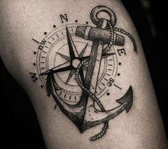 Anchor Tattoo: 90 AWESOME ideas to showcase your strength - Tattoo ideen - - Anchor Tattoo: 90 AWESOME ideas to showcase your strength – Tattoo ideen – - Navy Anchor Tattoos, Anchor Compass Tattoo, Navy Tattoos, Anchor Tattoo Design, Sailor Tattoos, Compass Tattoo Design, Elbow Tattoos, Sleeve Tattoos, Nautical Tattoos