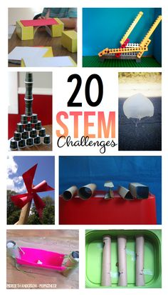 20 STEM Challenges - Low prep, high-engagement STEM activities for kids of all ages. Follow the engineering design process, learn applicable STEM vocabulary, and encourage cooperative learning all while having fun! | Meredith Anderson STEM Resources