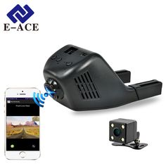 E-ACE Mini Wifi Car Dvr DashCam Video Recorder Camcorder 170 Degree Wide Angle Full HD 1080P Dual Camera Lens Reistrator