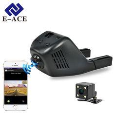 E-ACE 미니 와이파이 자동차 Dvr DashCam 비디오 레코더 캠코더 170 학위 넓은 각도 풀 HD 1080 마력 듀얼 카메라 렌즈 Reistrator