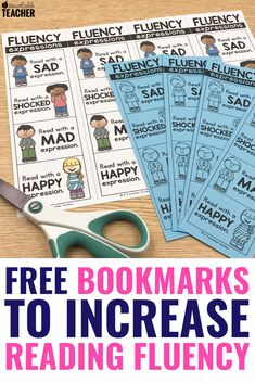 Teaching reaching fluency to kindergarten, first grade, and grade students can be challenging. These free fluency bookmarks have strategies to increase reading with expression. Whether reading passages or books, kids enjoy these expression activities! Reading Fluency, Reading Intervention, Reading Passages, Kindergarten Reading, Teaching Reading, Guided Reading, Phonics Rules, Teaching Phonics, Comprehension Activities