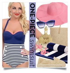 """""""pin-up swimsuit"""" by ailav9 ❤ liked on Polyvore featuring Target, GlassesUSA, Manebí and onepieceswimsuit"""