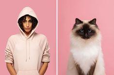 ¿Te pareces a tu gato? Disfruta de este proyecto donde el fotógrafo Gerrard Gethings une a personas con sus dobles gatunos I Love Cats, Cool Cats, Pack Up And Go, Exotic Shorthair, Curious Cat, Cat Memorial, Scottish Fold, Funny Bunnies, Maine Coon Cats