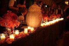 Fall wedding head table decor