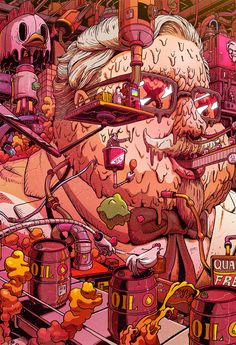 Supersize Them: Mr. Misang Imagines What Fast Food Characters Would Look Like If… Supersize Them: Mr. Misang Imagines What Fast Food Characters Would Look Like If They Ate Their Restaurant's Food # Pop Art Wallpaper, Trippy Wallpaper, Cartoon Wallpaper, Wallpaper Backgrounds, Art Et Illustration, Food Illustrations, Graffiti Art, Arte Dope, Grid Design