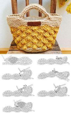 Crochet Basket Pattern, Crochet Tote, Crochet Handbags, Crochet Purses, Crochet Baby, Knit Crochet, Crochet Patterns, Crochet Summer, Crochet Bag Tutorials