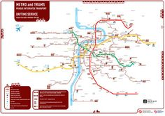 Prague Metro and Tram Map. So, this shows more than just the underground, which only has three lines. Sometimes though, three lines and a tram network is more than enough...