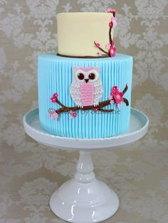 Owl cake - Birthday cake for my daughter - in keeping with her current owl obsession!