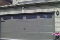 C H I Overhead Doors Model 5916 Long Panel Steel Carriage House Style Garage Door In White