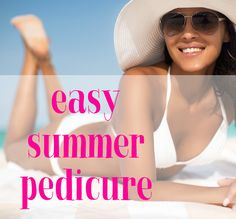 Quick and easy tips for an at home pedicure that will get you ready for the beach! #ad