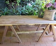Everybody loves a rustic trestle table! Not2shabby Furniture Catalogue