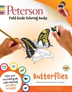 Butterflies Field Guide Coloring Book - Educational Coloring Book