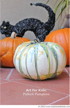 Art for Kids: Pollock Pumpkins
